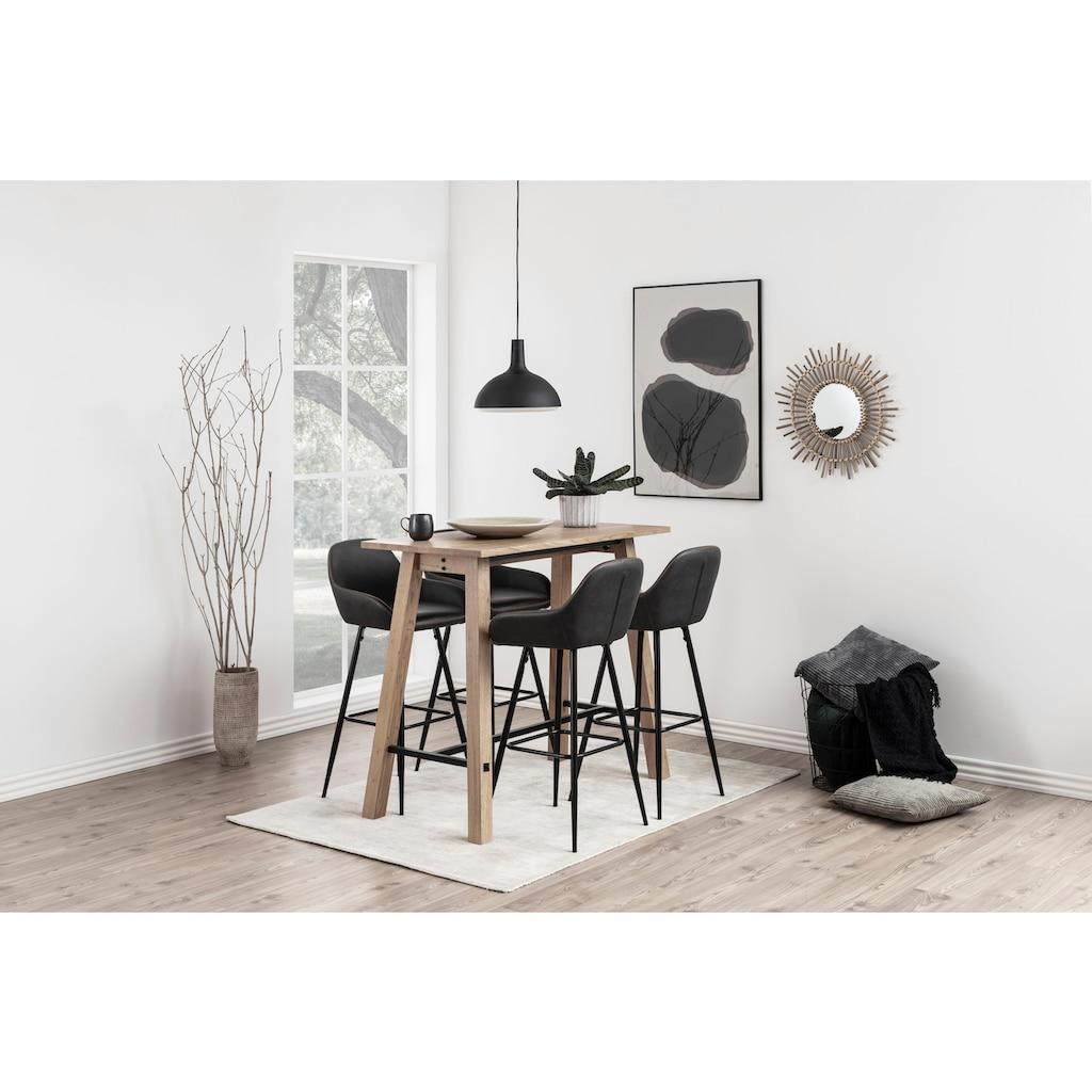 andas Barhocker »Carla«, 2er Set, mit schönem schwarzen Metallgestell, mit Kunstleder Bezug, Sitzhöhe 76,5 cm