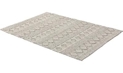 SCHÖNER WOHNEN-Kollektion Teppich »Alva«, rechteckig, 14 mm Höhe, Hoch-Tief-Struktur, Wohnzimmer kaufen