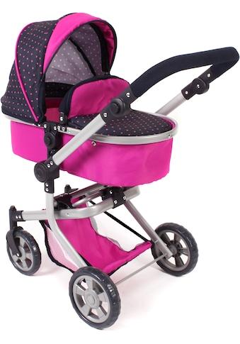 CHIC2000 Kombi-Puppenwagen »Mika, Navy-pink«, mit schwenkbaren Vorderrädern kaufen
