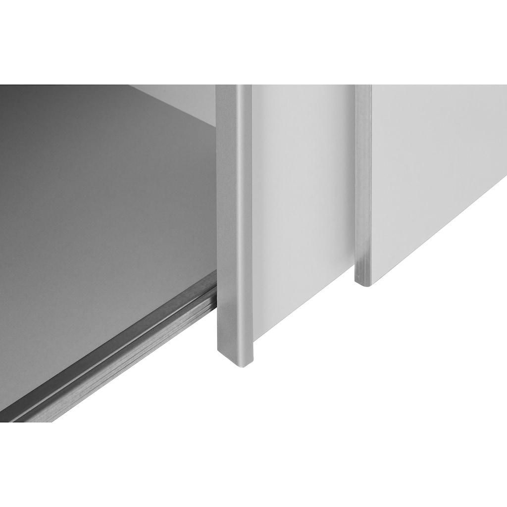 FORTE Dreh-/Schwebetürenschrank, mit zahlreichen Einlegeböden