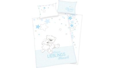 Baby Best Babybettwäsche »Kleiner Lieblingsmensch«, mit niedlichem Teddy-Motiv kaufen