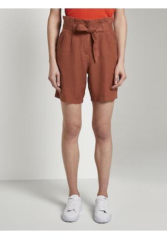 TOM TAILOR Paperbag-Hose »Paperbag-Shorts aus Leinengemisch« kaufen
