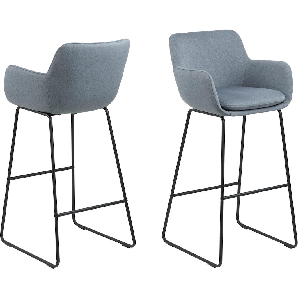 andas Barhocker »Lene«, aus einem schönen Webstoff Bezug, mit einem Metallgestell, Sitzhöhe 76 cm