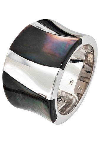 JOBO Silberring, breit 925 Silber mit Perlmutt kaufen
