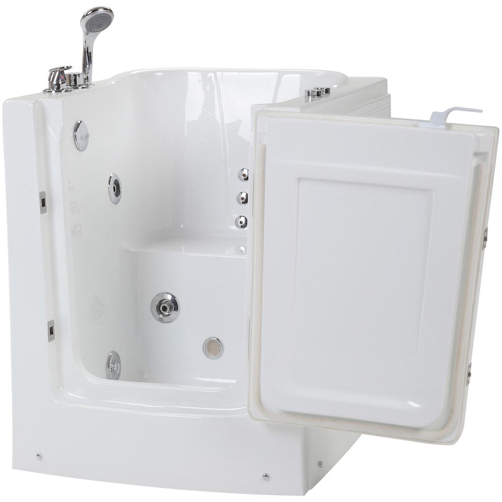 HOME DELUXE Whirlpool-Badewanne »Vital L«, sitzend mit Rechtsanschlag