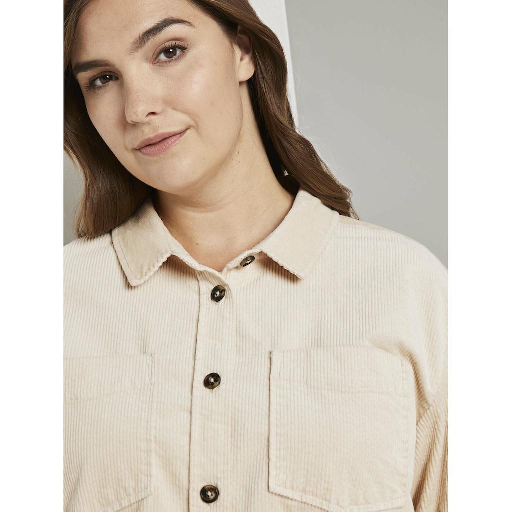 TOM TAILOR MY TRUE ME Hemdbluse »Cord-Hemd mit Brusttaschen«