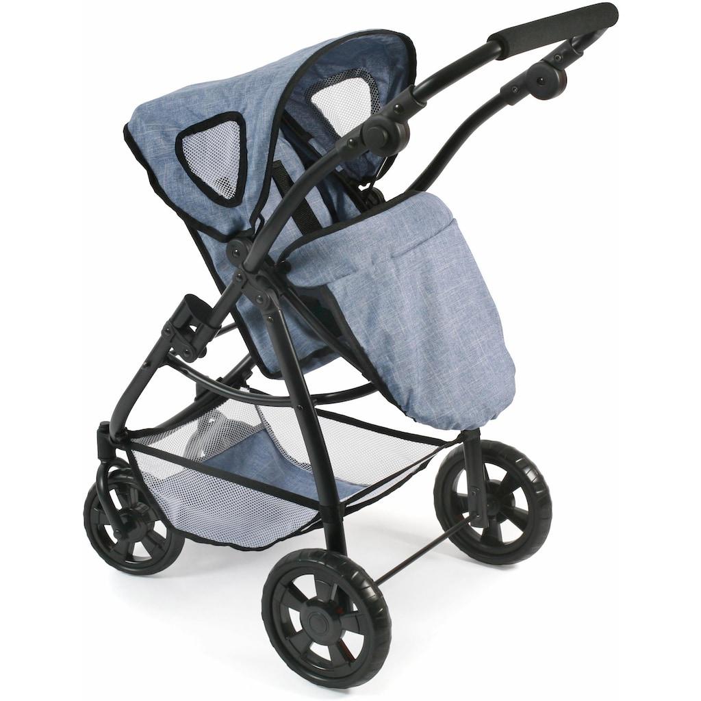 CHIC2000 Kombi-Puppenwagen »Emotion All In 3in1, Blau«, inkl. Babywanne, Babyschale und Sportwagenaufsatz