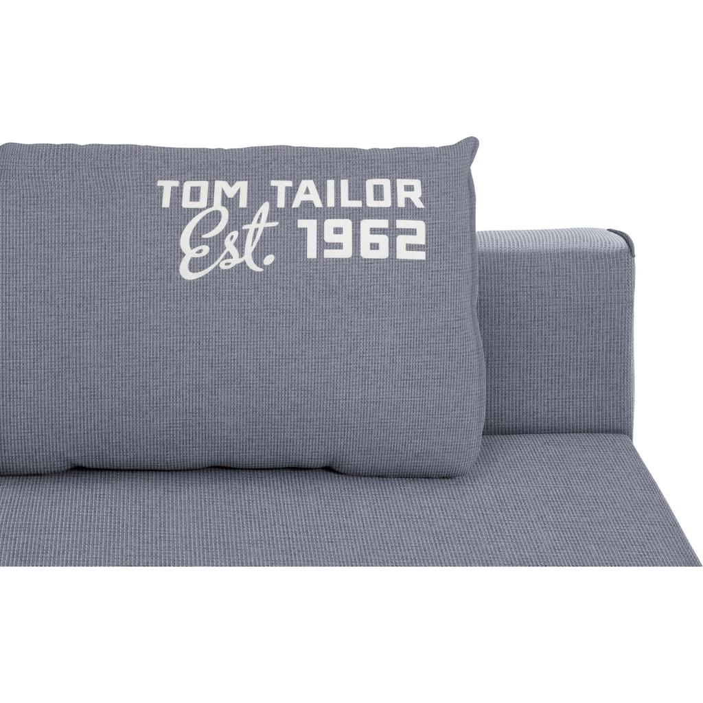 TOM TAILOR Schlafsofa »EASY SLEEP«, mit 2 Rückenkissen, Breite 198 cm, Matratzenbreite 140 cm
