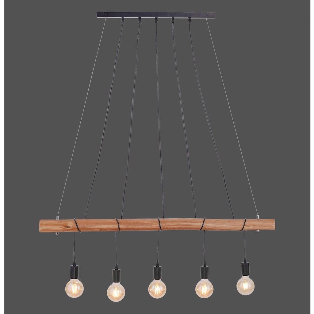 Leuchten Direkt Pendelleuchte »DAMIAN«, E27, Hängeleuchte, Eukalyptus-Holz