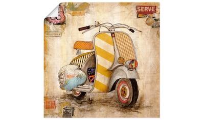 Artland Wandbild »Drum herum I«, Motorräder & Roller, (1 St.), in vielen Größen &... kaufen
