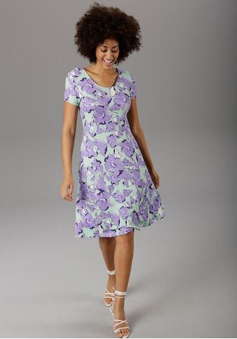 Aniston SELECTED Sommerkleid, mit modischem Rückenausschnitt - NEUE KOLLEKTION kaufen