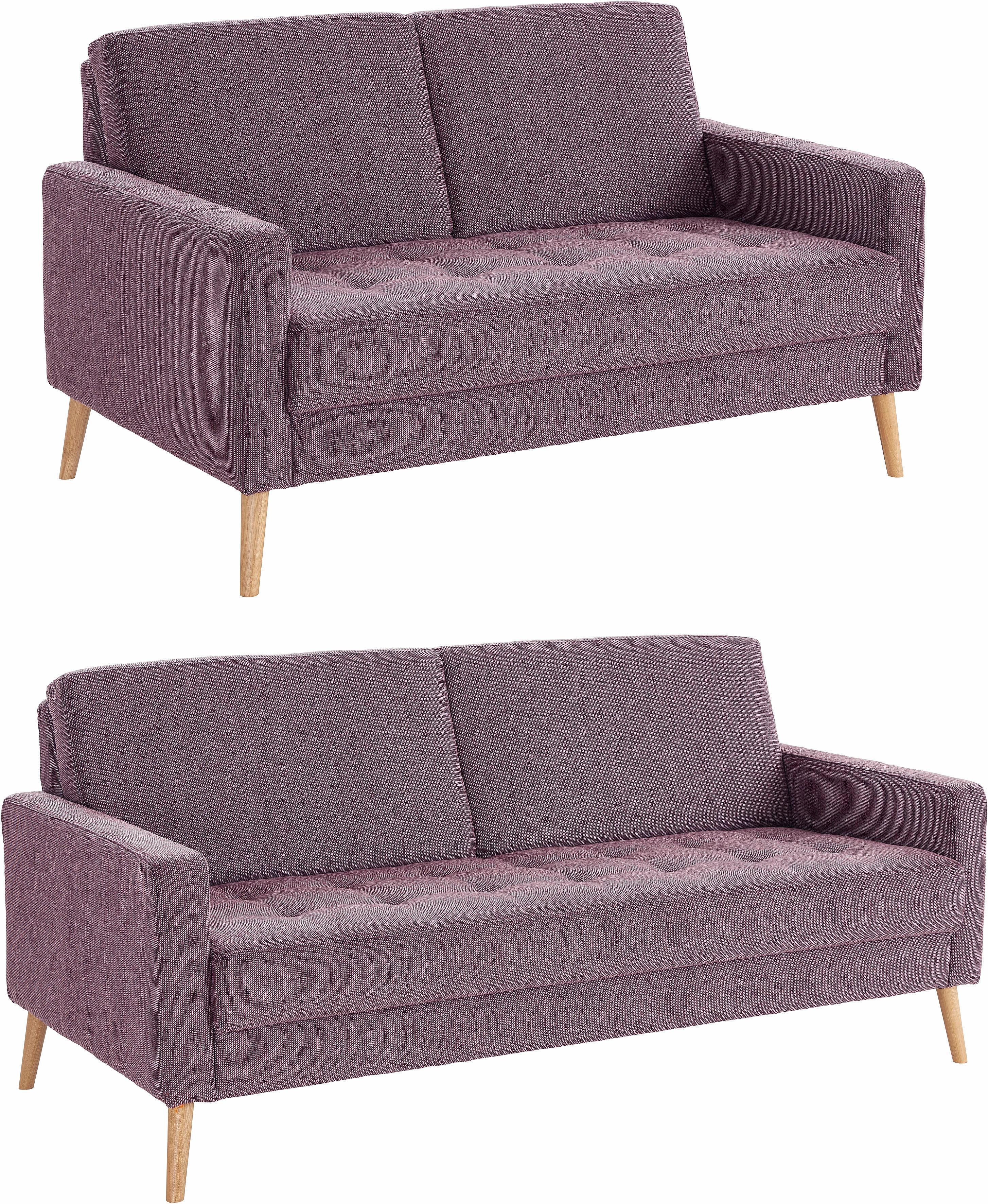 andas Set 2- und 25-Sitzer Kiara Steppung im Sitzbereich Holzfüße
