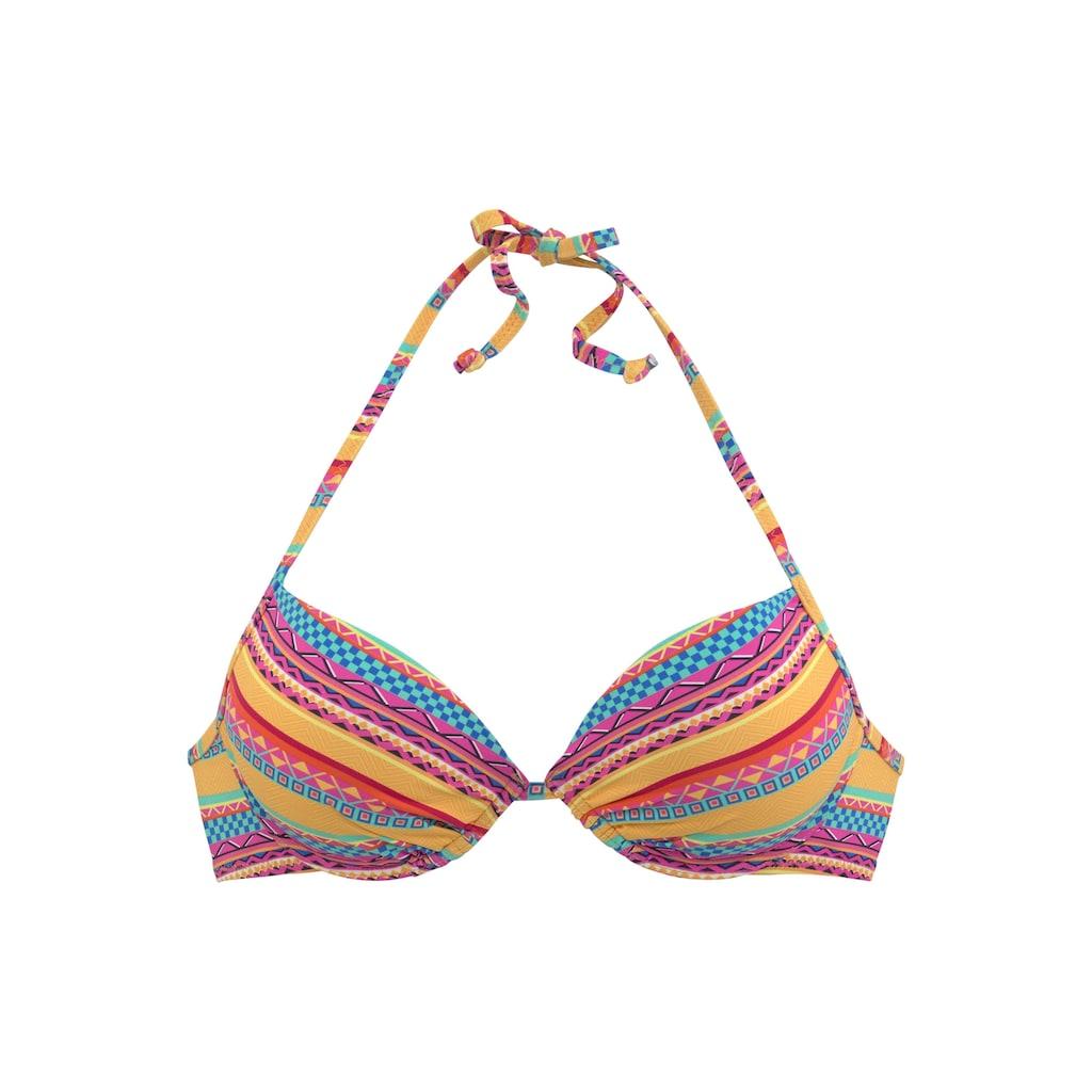 Buffalo Push-Up-Bikini-Top »Lux«, mit Ethno-Druck