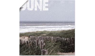 Artland Wandbild »Düne«, Strand, (1 St.), in vielen Größen & Produktarten - Alubild / Outdoorbild für den Außenbereich, Leinwandbild, Poster, Wandaufkleber / Wandtattoo auch für Badezimmer geeignet kaufen