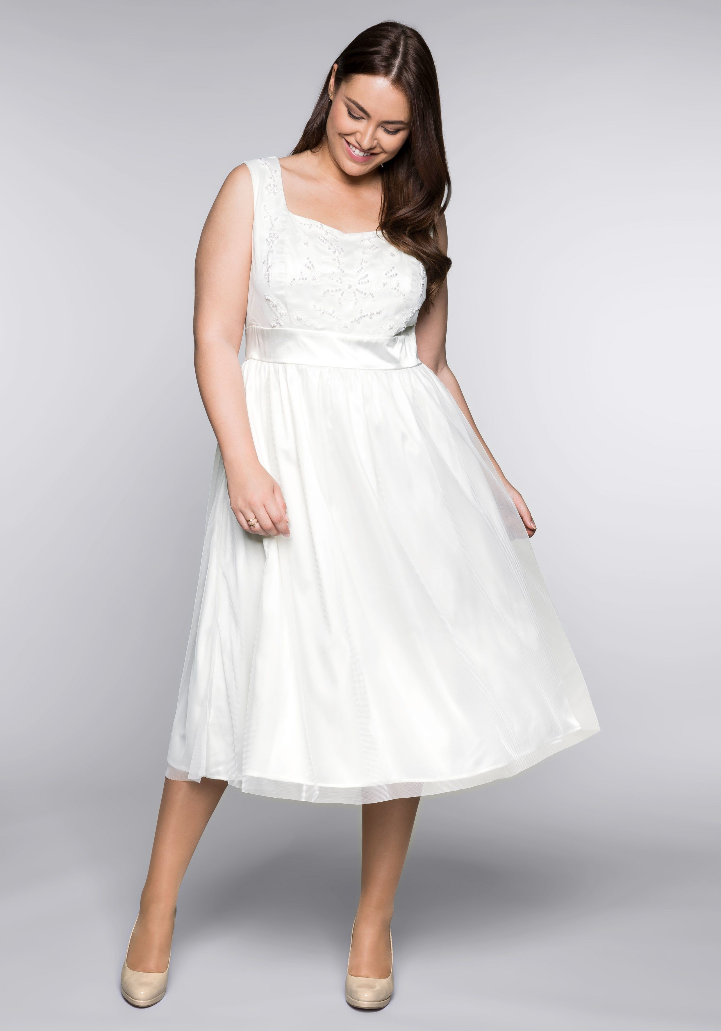 Sheego Abendkleid mit glänzendem Futter online kaufen | BAUR