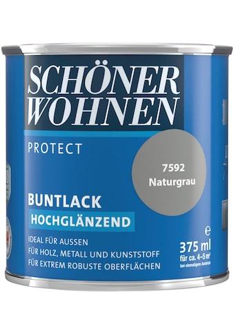 SCHÖNER WOHNEN-Kollektion Lack »Protect«, hochglänzend, 375 ml, naturgrau kaufen
