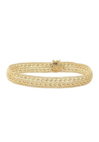 Firetti Armband »in Fantasiekettengliederung, Gelbgold, glänzend, 10 mm breit« kaufen