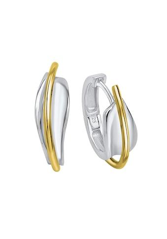 Vivance Paar Creolen »925 Silber rhodiniert und teilvergoldet«, Oberfläche: Glänzend kaufen