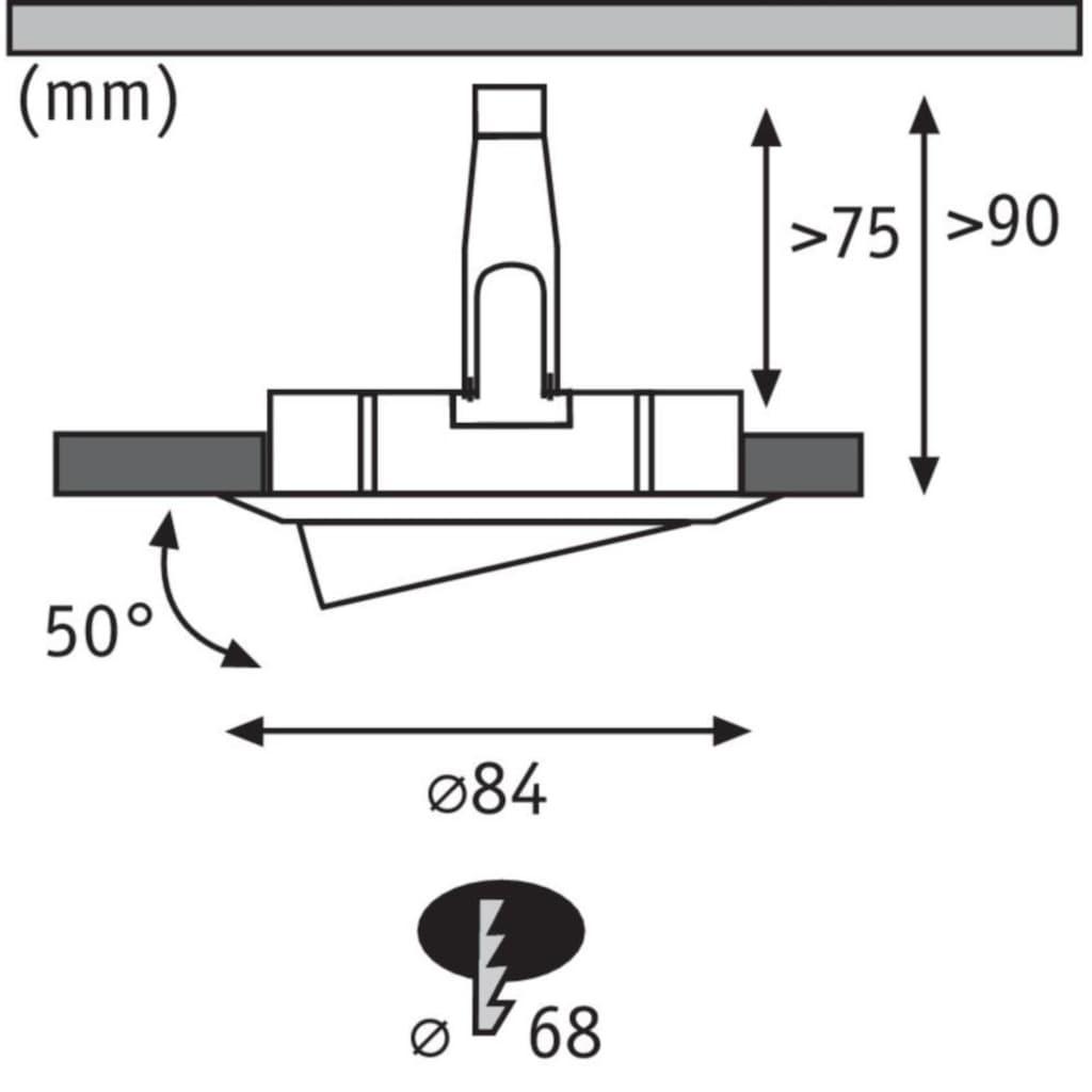 Paulmann LED Einbaustrahler »Nova rund 1x6,5W GU10 Weiß matt schwenkbar 3-Stufen-dimmbar«, GU10