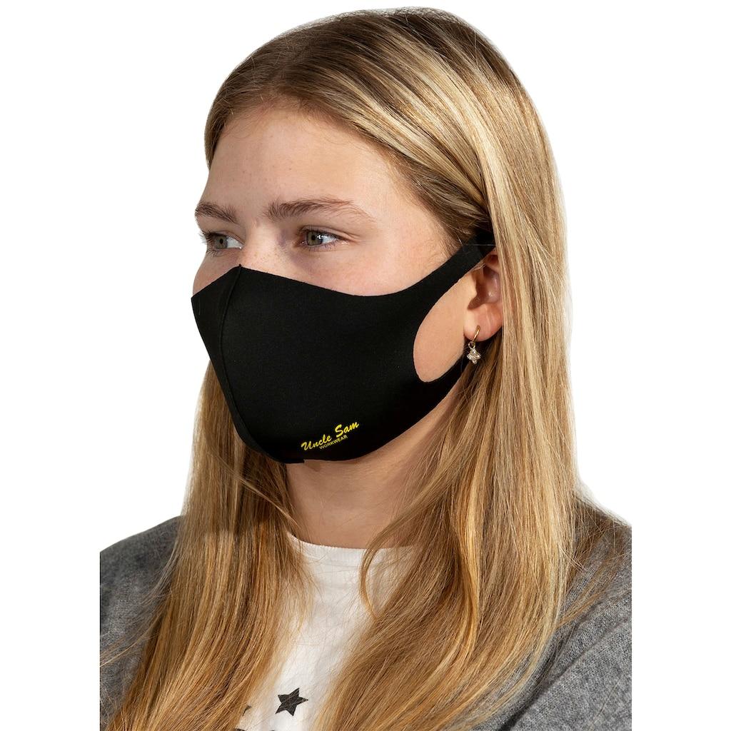 Uncle Sam Community-Maske »Mund-Nasenmaske schwarz«