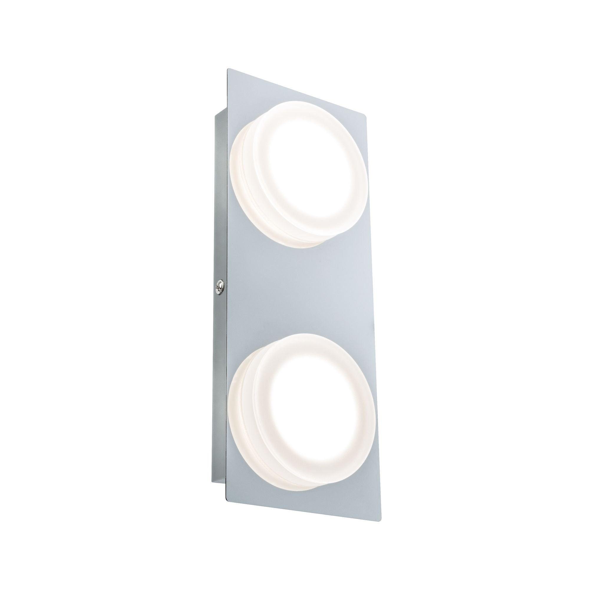 Paulmann LED Deckenleuchte Wandleuchte Doradus 2x4,7W Chrom, 1 St., Warmweiß