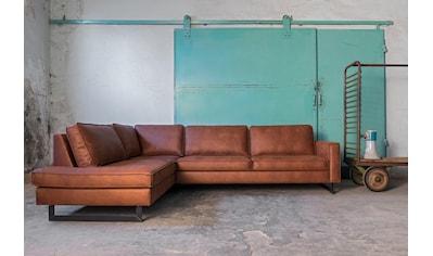 Places of Style Ecksofa »Pinto«, mit Keder und Metallfüßen kaufen