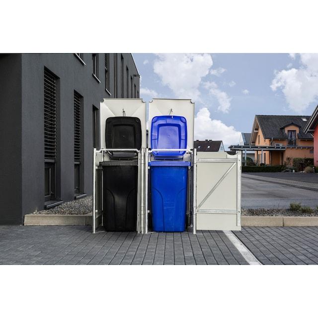HIDE Mülltonnenbox für 2 x 240 l, schwarz