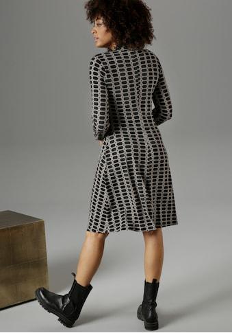 Aniston SELECTED Hemdblusenkleid, im Kettendruck - NEUE KOLLEKTION kaufen
