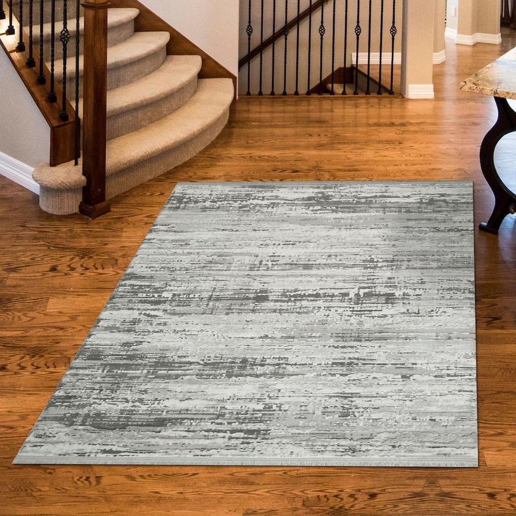 RESITAL The Voice of Carpet Teppich »Laguna 012«, rechteckig, 11 mm Höhe, Kurzflor, gewebt, modernes Design, Hoch-Tief-Struktur, Wohnzimmer