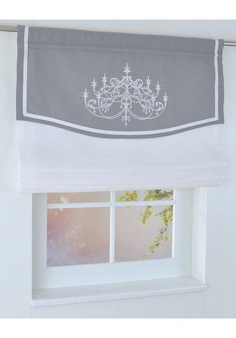 Raffrollo »Versailles«, Kutti, mit Stangendurchzug, freihängend kaufen