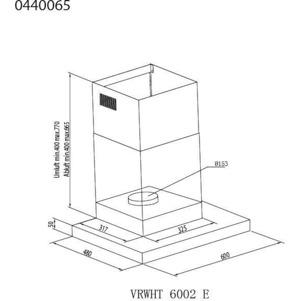vonReiter Wandhaube »VRWHT 6002 E«, Serie VRWH