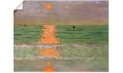Artland Wandbild »Sonnenuntergang. 1913«, Sonnenaufgang & -untergang, (1 St.), in... kaufen