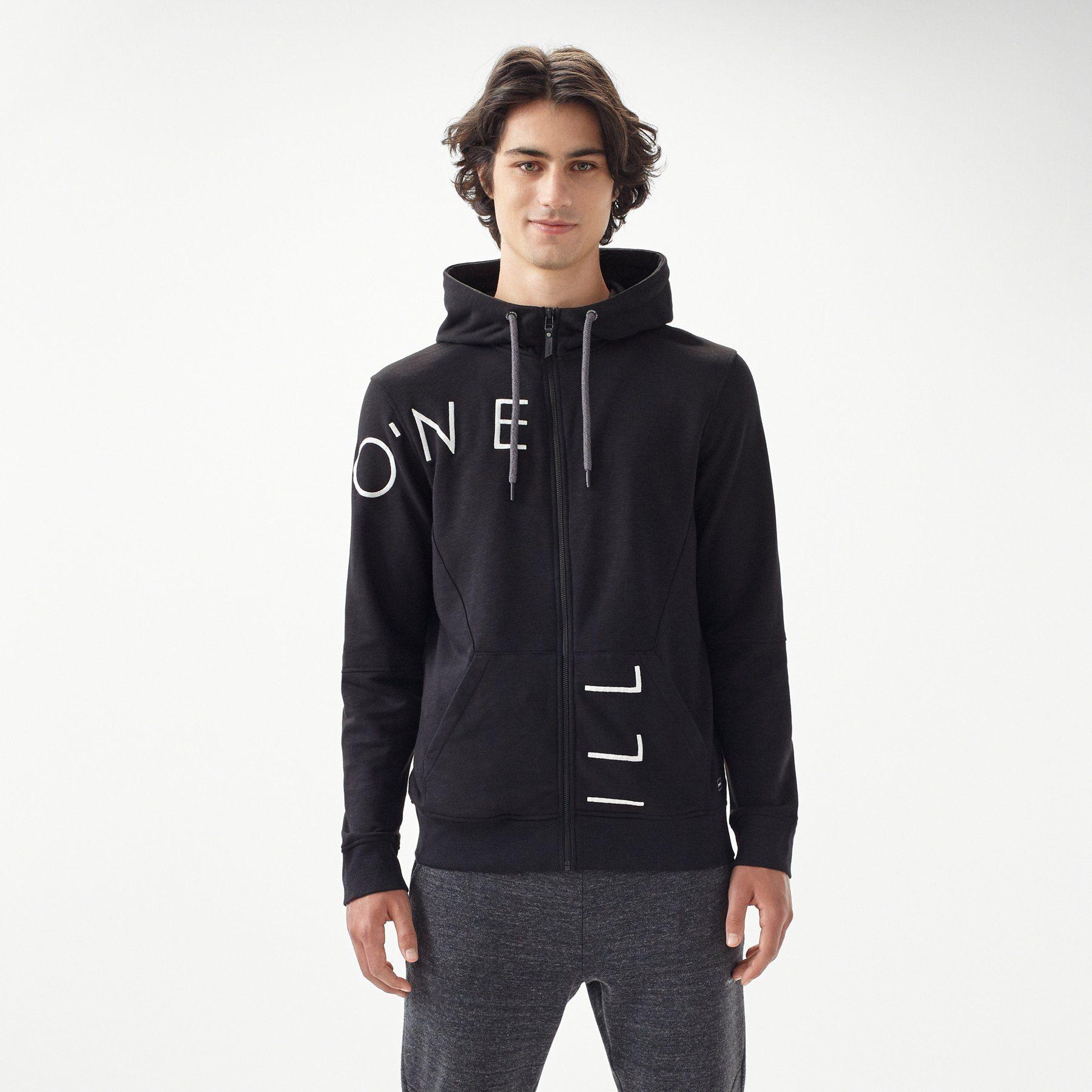 O´Neill Sweatjacke mit Kapuze Cut off logo zip | Bekleidung > Sweatshirts & -jacken > Sweatjacken | Schwarz | Baumwolle - Polyester | O´neill
