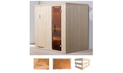 WEKA Sauna »Halmstad 1«, 194x144x199 cm, ohne Ofen, Glastür kaufen