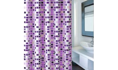 MSV Duschvorhang »Premium Mosaico Violet« Breite 180 cm kaufen