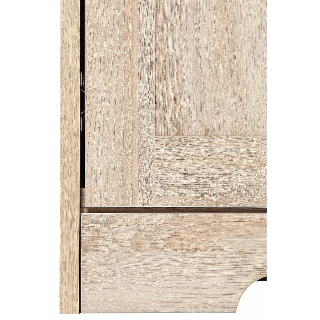 Home affaire Sideboard »Nanna«, mit einer duroplastischen Folien Oberfläche in Eiche-Optik, Breite 80 cm