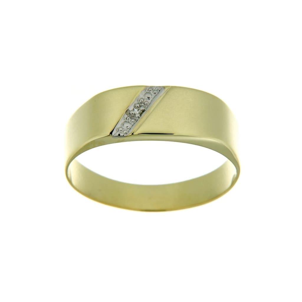 Firetti Goldring »in Siegelring-Optik«, mit Diamant