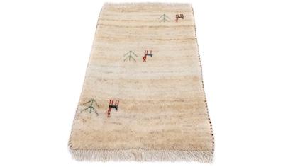 morgenland Wollteppich »Gabbeh Teppich handgeknüpft braun«, rechteckig, 15 mm Höhe,... kaufen