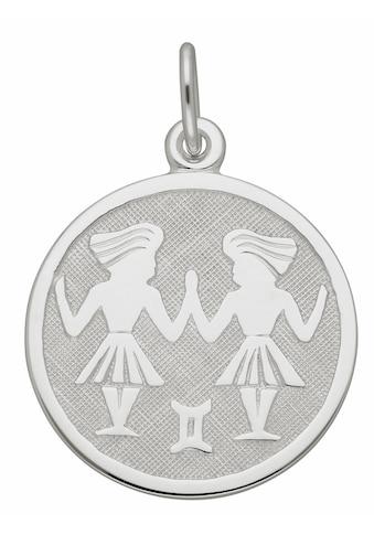 Adelia´s Kettenanhänger »925 Silber Sternzeichen Anhänger Zwilling Ø 15,7 mm« kaufen