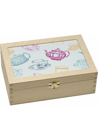 Contento Teebox »Tassen/Kannen grafisch«, (1 tlg.) kaufen