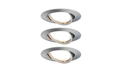 Paulmann LED Einbaustrahler »schwenbar Base rund Eisen gebürstet 3x5W GU10 3-Stufen-dimmbar«, GU10, 3 St., Warmweiß kaufen