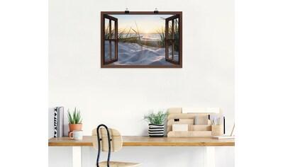 Artland Wandbild »Ostseestrand durchs Fenster«, Meer Bilder, (1 St.), in vielen Größen... kaufen
