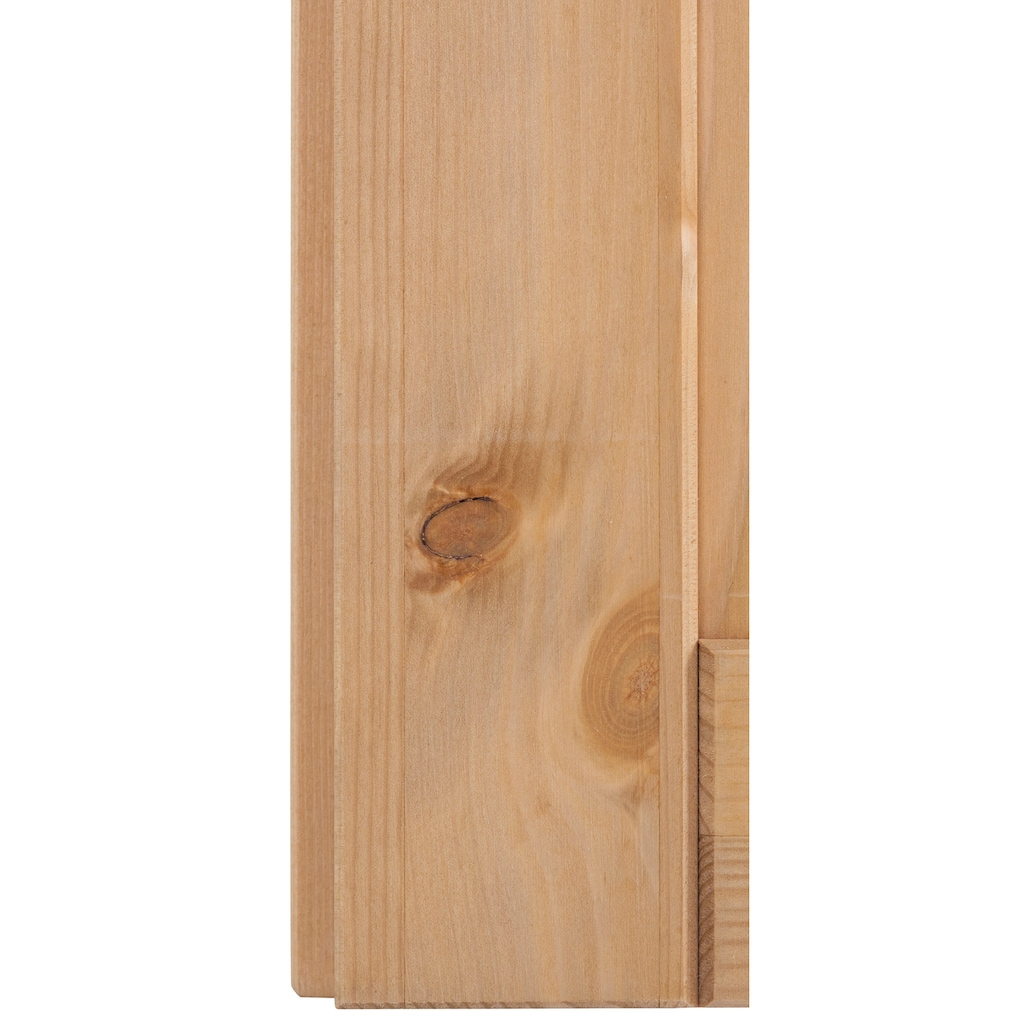 Home affaire Hängeschrank »Oslo«, 100 cm breit, aus massiver Kiefer, 2 Türen, Metallgriffe, Landhaus-Optik