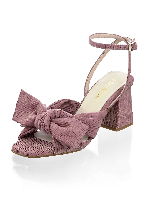 alba moda -  Sandalette, im Plissee-Design