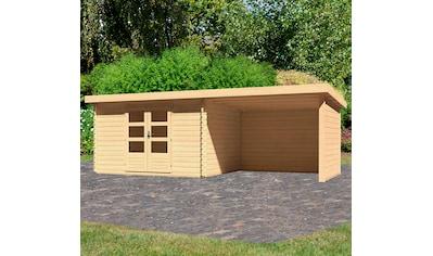 KONIFERA Set: Gartenhaus »Schloßsee 7«, BxT: 674x333 cm, mit Anbau inkl. Seiten -  und Rückwand kaufen