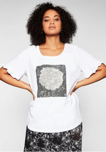 Sheego T-Shirt, mit Frontdruck und Flügelärmeln kaufen