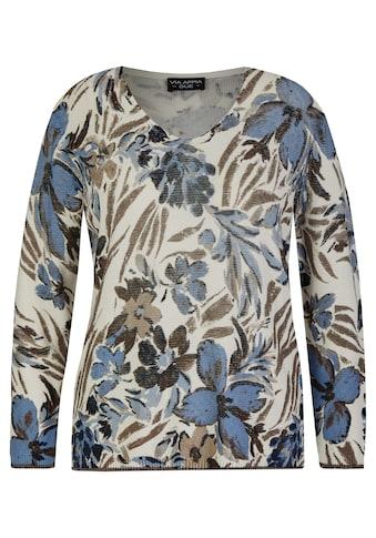 VIA APPIA DUE V-Ausschnitt-Pullover, mit floralem Print kaufen