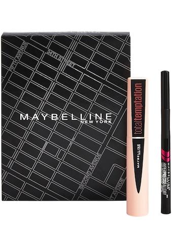 MAYBELLINE NEW YORK Augen-Make-Up-Set »Total Temptation Mascara und Hyper Precise... kaufen