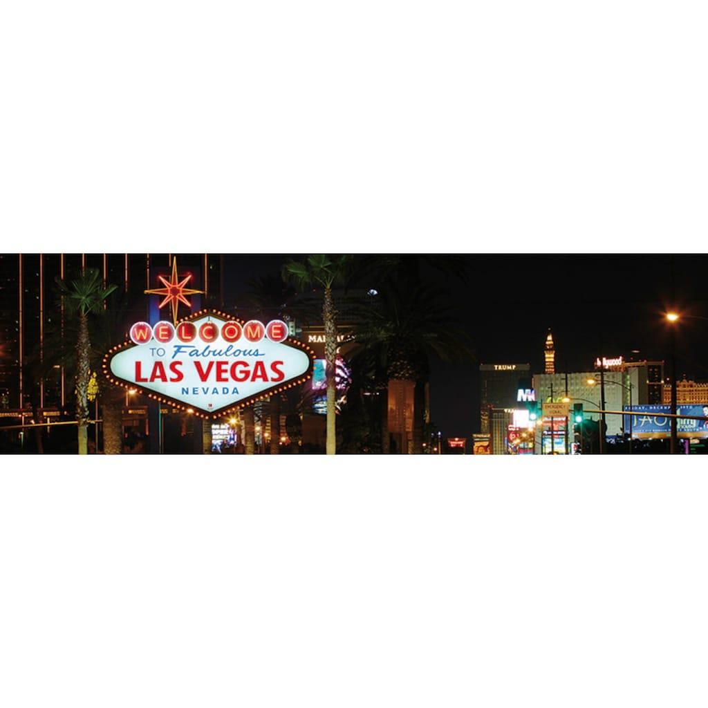 Papermoon Fototapete »Las Vegas Panorama«, matt, Vlies, 2 Bahnen, 350 x 100 cm
