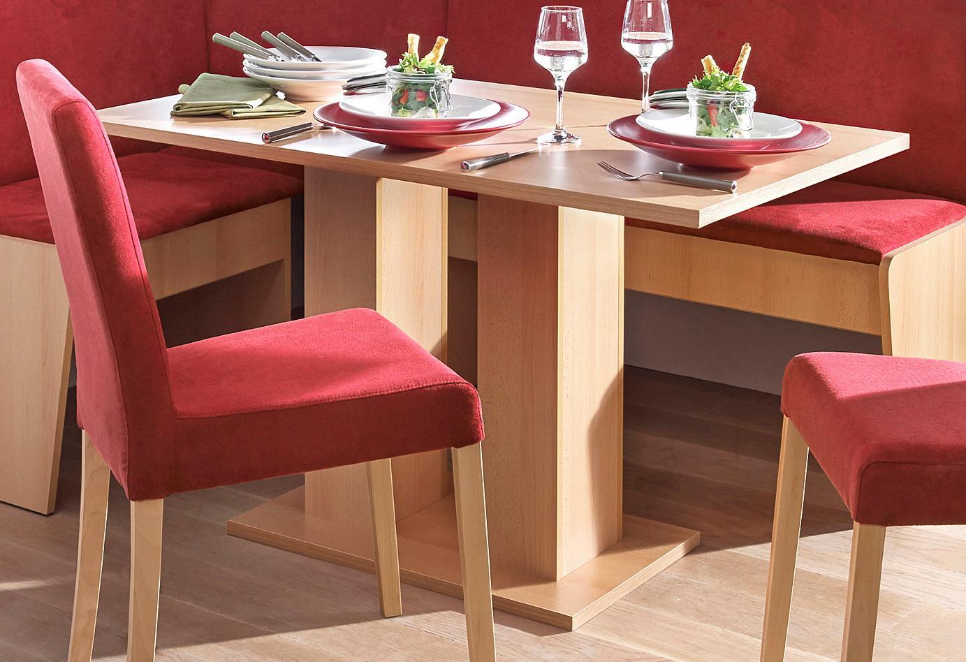 my home Säulen-Esstisch, Breite 68 oder 110 cm beige Säulen-Esstisch Säulentische Esstische Tische
